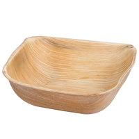 Eco-gecko Sustainable 5 inch Square Palm Leaf Bowl - 25/Pack