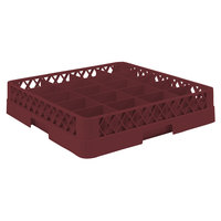Vollrath TR5 Traex Full-Size Burgundy 20-Compartment 3 inch Cup Rack