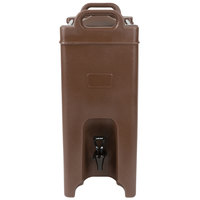 Carlisle XT500001 Cateraide 5 Gallon Brown Insulated Beverage Dispenser