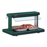Hatco GR2BW-24 24 inch Glo-Ray Green Designer Buffet Warmer with Black Insets - 970W