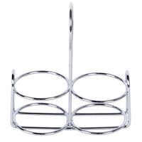 American Metalcraft MCADDY Stainless Steel 2-Compartment Condiment Rack