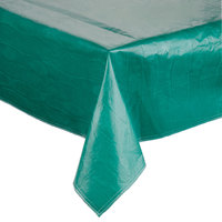 52 inch x 72 inch Green Vinyl Table Cover with Flannel Back