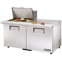 True TSSU-60-12M-B-ADA 60 inch Mega Top Two Door ADA Height Sandwich / Salad Prep Refrigerator