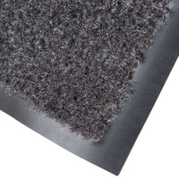 Cactus Mat 1437M-L41 Catalina Standard-Duty 4' x 10' Charcoal Olefin Carpet Entrance Floor Mat - 5/16 inch Thick