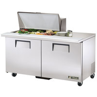 True TSSU-60-15M-B-ADA 60 inch Mega Top Two Door ADA Height Sandwich / Salad Prep Refrigerator