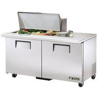 True TSSU-60-15M-B-ADA 60 inch Mega Top Two Door ADA Height Sandwich / Salad Prep Refrigerator