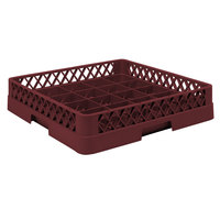 Vollrath TR16 Traex Full-Size Burgundy 25-Compartment 3 inch Cup Rack