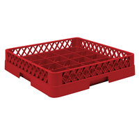 Vollrath TR16BBB Traex Full-Size Red 25-Compartment 7 7/8 inch Cup Rack