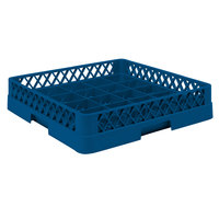 Vollrath TR16BBB Traex Full-Size Royal Blue 25-Compartment 7 7/8 inch Cup Rack