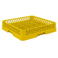 Vollrath TR16BB Traex Full-Size Yellow 25-Compartment 6 3/8 inch Cup Rack