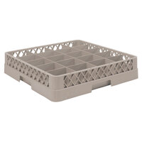 Vollrath TR5A Traex Full-Size Beige 20-Compartment 4 13/16 inch Cup Rack with Open Rack Extender On Top
