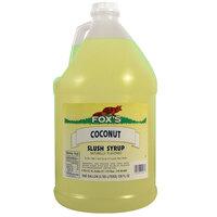 Fox's Coconut Slush Syrup - 1 Gallon Container