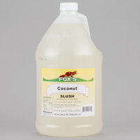 Fox's Coconut Slush Syrup - 1 Gallon Container