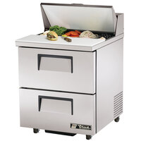 True TSSU-27-8D-2-ADA 27 inch Two Drawer ADA Height Sandwich / Salad Prep Refrigerator
