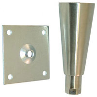 All Points 26-2439 6 inch Nickel Plate Mount Adjustable Equipment Leg - 3 1/2 inch Plate, 2000 lb. Capacity