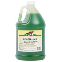 Fox's Lemon Lime Slush Syrup - 1 Gallon Container
