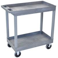 Luxor / H. Wilson EC11HD-G Gray 2 Tub Cart Utility Cart - 18 inch x 35 1/4 inch x 35 1/4 inch