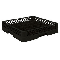 Vollrath TR16BB Traex Full-Size Black 25-Compartment 6 3/8 inch Cup Rack