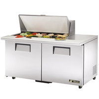 True TSSU-60-18M-B-ADA 60 inch Mega Top Two Door ADA Height Sandwich / Salad Prep Refrigerator
