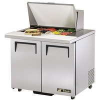 True TSSU-36-12M-B-ADA 36 inch Mega Top Two Door ADA Height Sandwich / Salad Prep Refrigerator