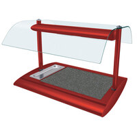 Hatco SRSSBW-1 Warm Red Serv-Rite Portable Heated Night Sky Stone Buffet Warmer with Overhead Heating - 650W