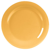 Carlisle 4301022 Durus 10 1/2 inch Honey Yellow Wide Rim Melamine Dinner Plate - 12 / Case