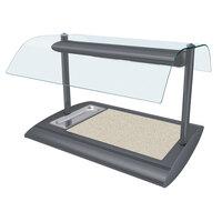 Hatco SRSSBW-1 Gray Granite Serv-Rite Portable Heated Bermuda Sand Stone Buffet Warmer with Overhead Heating - 650W