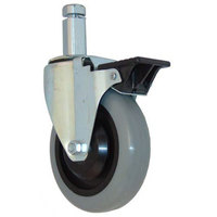 All Points 26-3254 5 inch Swivel Stem Caster with Brake for 7/8 inch Square Post - 260 lb. Capacity