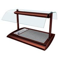Hatco SRSSBW-1 Antique Copper Serv-Rite Portable Heated Sawgrass Stone Buffet Warmer with Overhead Heating - 650W