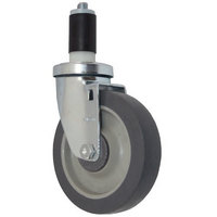 All Points 26-3408 5 inch Swivel Stem Caster for 1 3/16 inch O.D. Tubing - 300 lb. Capacity