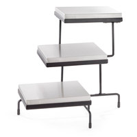 Tablecraft CaterWare CW40309CS Three-Tiered Cooling Plate Stand - 32 inch x 17 inch x 19 3/4 inch