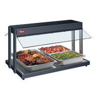 Hatco GRBW-24 24 inch Glo-Ray Black Buffet Warmer with Thermostatic Controls - 970W