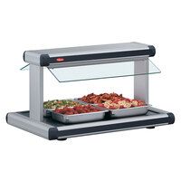 Hatco GR2BW-24 24 inch Glo-Ray Stainless Steel Designer Buffet Warmer with Black Insets and Infinite Controls - 970W