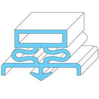Traulsen 341-39393-00 Equivalent Rubber Magnetic Door Gasket - 7 1/4 inch x 23 1/2 inch