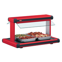 Hatco GR2BW-24 24 inch Glo-Ray Warm Red Designer Buffet Warmer with Black Insets and Infinite Controls - 970W