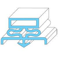 Traulsen 341-41215-00 Equivalent Rubber Magnetic Door Gasket - 22 7/8 inch x 59 3/4 inch