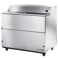 True TMC-49-S-SS 49 inch One Sided Milk Cooler with Stainless Steel Interior and Exterior