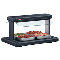Hatco GR2BW-24 24 inch Glo-Ray Black Designer Buffet Warmer with Black Insets and Infinite Controls - 970W