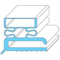 Traulsen 341-21461-00 Equivalent Rubber Magnetic Door Gasket - 6 7/8 inch x 23 1/4 inch
