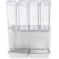 Crathco Mini-Quad E49-3 Quadruple 2.4 Gallon Bowl Stainless Steel Cold Beverage Dispenser