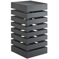 Cal-Mil 3331-96 Midnight Bamboo Black Square Crate Riser - 9 inch x 9 inch x 18 inch