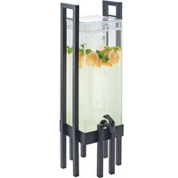 Cal-Mil 3302-3-13 One by One 3 Gallon Acrylic Beverage Dispenser with Black Frame and Ice Chamber - 9 inch x 9 inch x 28 1/2 inch