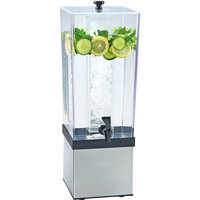 Cal-Mil 3324-3-55 Econo 3 Gallon Beverage Dispenser with Stainless Steel Base and Ice Chamber - 7 1/2 inch x 9 1/2 inch x 23 1/2 inch