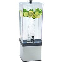 Cal-Mil 3324-3INF-55 Econo 3 Gallon Beverage Dispenser with Stainless Steel Base and Infusion Chamber - 7 1/2 inch x 9 1/2 inch x 23 1/2 inch