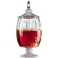 1.7 Gallon Madison Optic Glass Beverage Dispenser