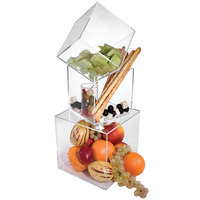 Cal-Mil CC334 3-Piece Clear Acrylic Cube Riser Set with 8 inch, 10 inch, and 12 inch Cubes