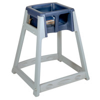 Koala Kare KB877-04 KidSitter Grey Convertible Plastic High Chair with Blue Seat