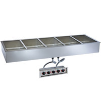 Alto-Shaam 500-HW/D4 Five Pan Drop In Hot Food Well - 4 inch Deep Pans, 120V