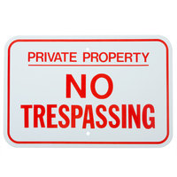 Private Property / No Trespassing Red Aluminum Composite Sign - 18 inch x 12 inch