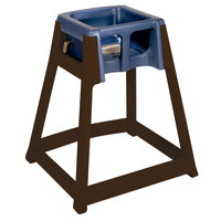 Koala Kare KB866-04 KidSitter Dark Brown Stackable Multi-Use Plastic High Chair